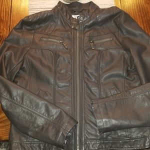 Bernardo Gray Faux Leather Jacket